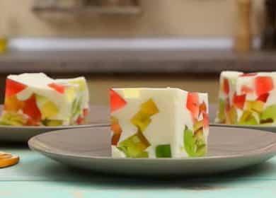 Нежный торт «Битое стекло» с желе и сметаной 🍮