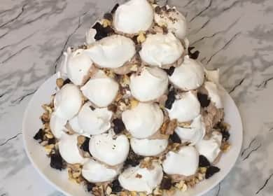 Как научиться готовить вкусный торт Графские развалины с безе 🎂