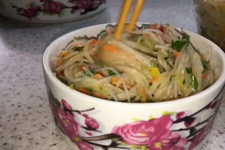 Фунчоза по-корейски по пошаговому рецепту с фото