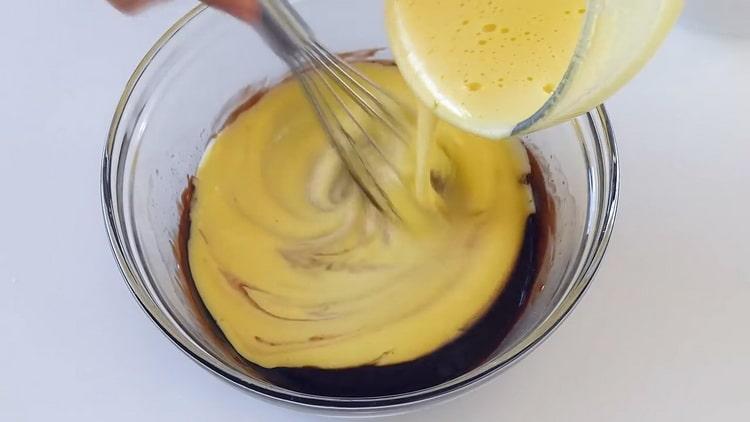 Для приготовления шоколадного мусса соедините ингредиенты