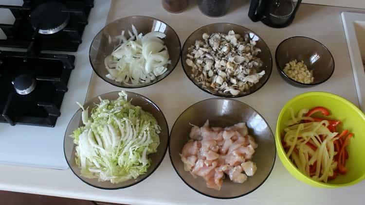 Как готовится японская лапша