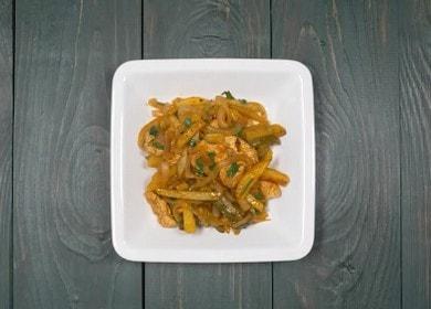 Готовим вкусное азу из индейки по пошаговому рецепту с фото.