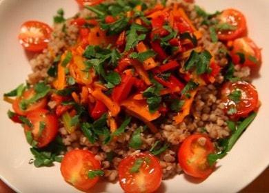 Очень вкусный вегетарианский рецепт гречки с овощами 🥣