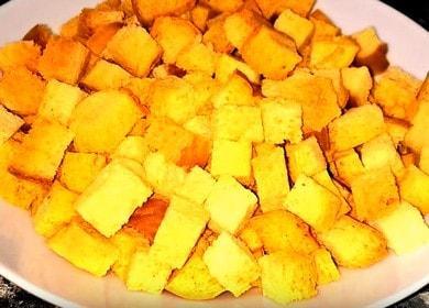 Готовим ароматные сухарики в духовке по пошаговому рецепту с фото.