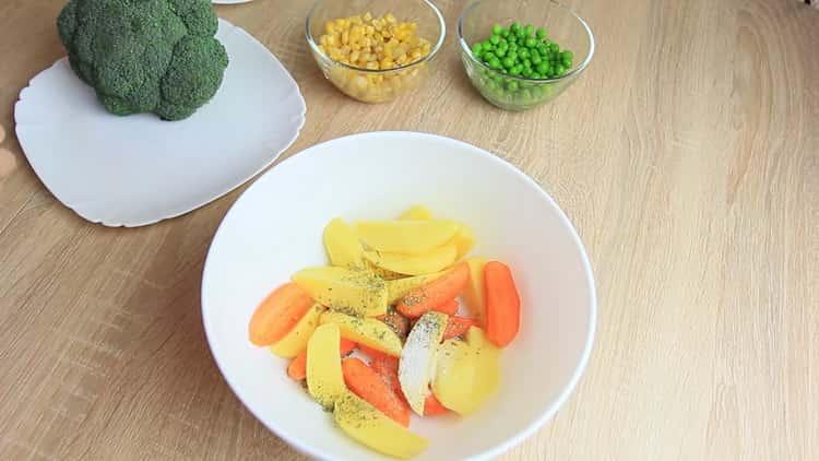 Для приготовления блюда, добавьте специи