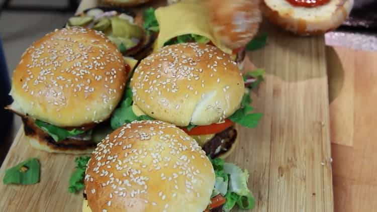 Гамбургер по пошаговому рецепту с фото