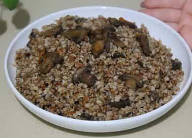 Как вкусно приготовить гречку с грибами и луком