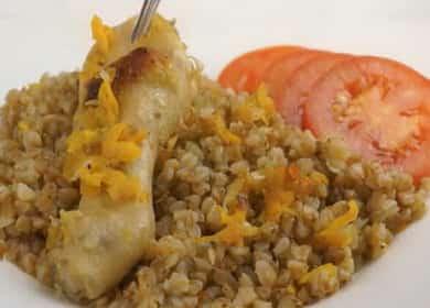 Гречка с мясом в духовке по пошаговому рецепту с фото