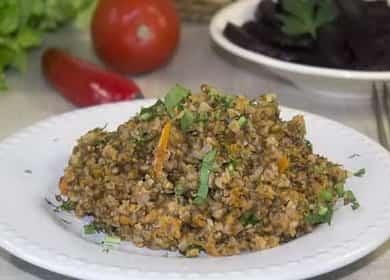 Гречка с фаршем на сковороде по пошаговому рецепту с фото