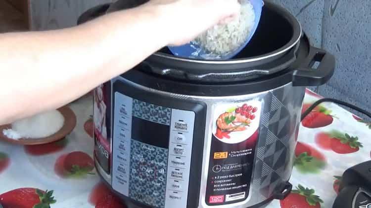 Для приготовления каши, подготовьте ингредиенты