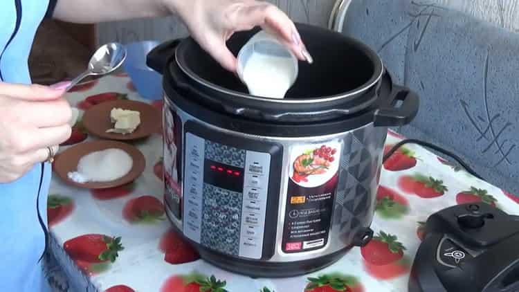 Для приготовления каши добавьте молоко