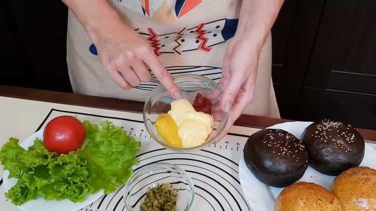 Для приготовления соуса подготовьте ингредиенты