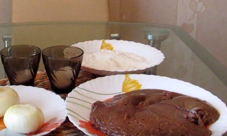 Печень желательно предварительно вымочить.