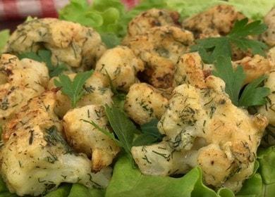 Жареная цветная капуста в нежном кляре — вкусная закуска к любому столу