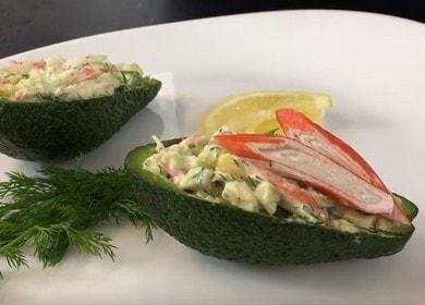 Как научиться готовить вкусный салат с авокадо и крабовыми палочками 🥑