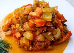 Готовим легкое соте из овощей по пошаговому рецепту с фото.
