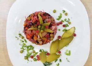 рецепт винегрета классический с горошком и капустой