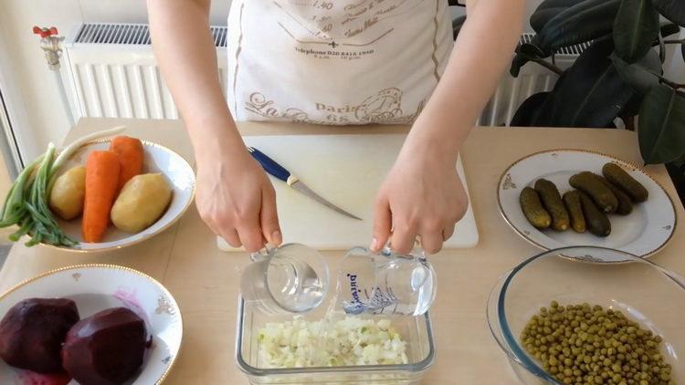 Готовим винегрет рецепт классический с горошком