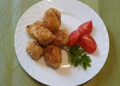 Рецепт приготовления очень вкусной цветной капусты в сухарях на сковороде 🥦