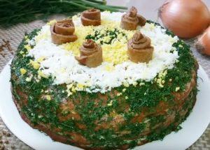Готовим нежный печеночный торт из свиной печени: рецепт с пошаговыми фото.