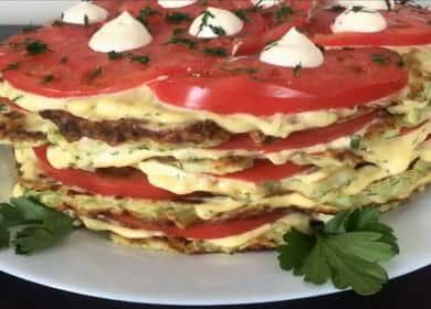 Нежнейший торт из кабачков с помидорами 🍅