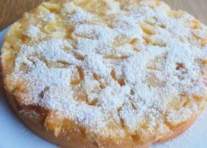 Заливной пирог с яблоками по пошаговому рецепту с фото