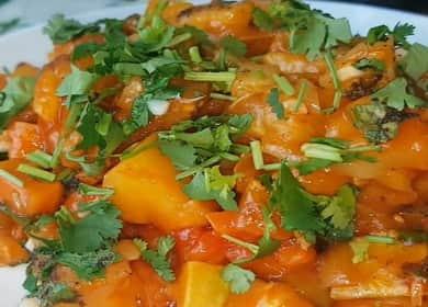 Вкусное рагу из тушеных баклажан с овощами 🍲