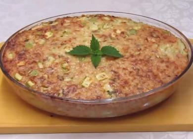 Запеканка из риса с кабачками — съедается мгновенно🍚