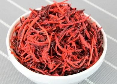 Витаминный салат из сырой свеклы и моркови по-корейски 🥕