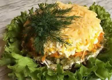 Очень нежный салат с куриной печенью и солеными огурцами 🥗