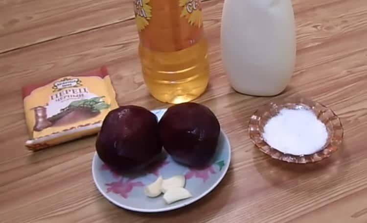 Как готовится свекла с чесноком и майонезом