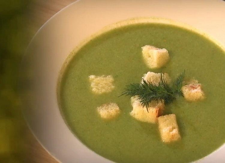 суп пюре из капусты брокколи и цветной готов