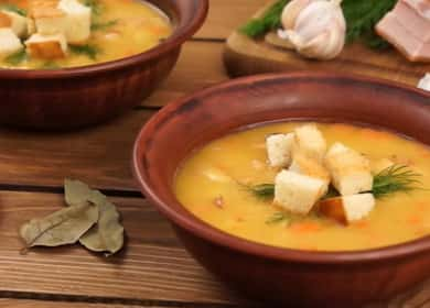 Классический рецепт горохового супа с копченостями 🥣