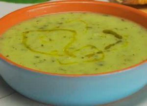 Вкусный и полезный суп-пюре из кабачков