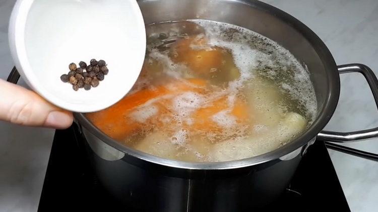 Для приготовления блюда добавьте перец