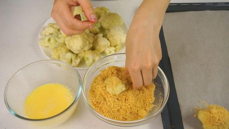 Для приготовления блюда выложите ингредиенты на противень