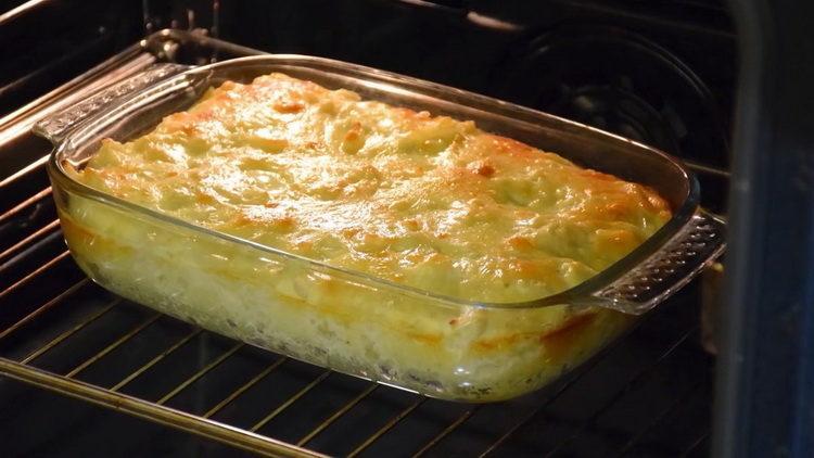 Для приготовления блюда разогрейте духовку