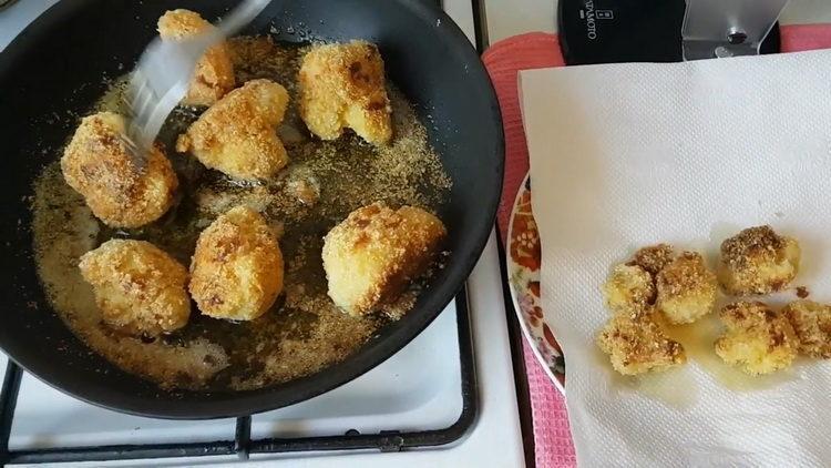 Рецепт приготовления цветной капусты на сковороде