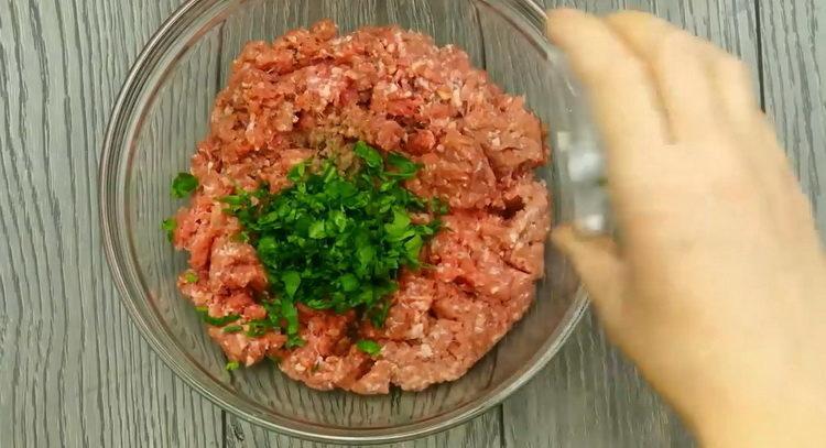 Для приготовления блюда приготовьте фарш