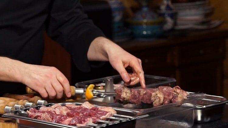 Шашлык из говядины - рецепт приготовления маринада