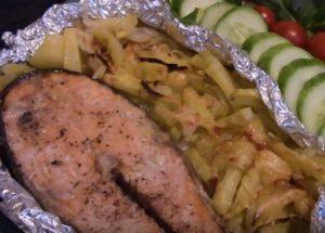Рыба кета: запекаем в духовке по рецепту с фото.