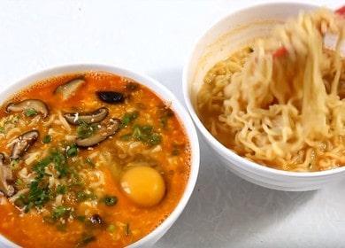 Корейский рамен — 2 🥝 простых рецепта