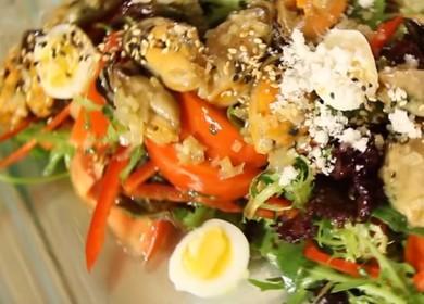 Салат с мидиями 🥝 — рецепт от шеф-повара