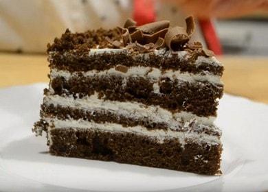 Шоколадный торт на кефире 🥝 «Черный принц»