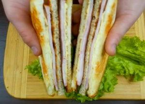 Сэндвичи по пошаговому рецепту с фото