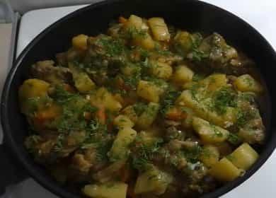 Тушеная картошка с курицей 🥝 — быстрый ужин