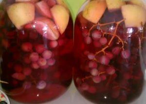 готовим очень вкусный компот из яблок и винограда