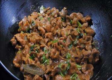 Рецепт приготовления мягких 🥝 и нежных куриных желудков