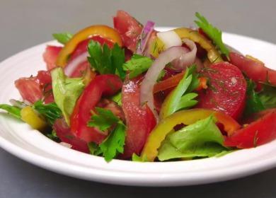 Быстропоедаемый овощной салат 🥝 с лучшей заправкой