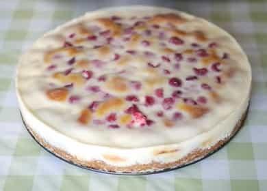 Простой рецепт пирога 🥝 с малиной